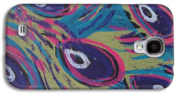 Uptown Peacock Galaxy S4 Case by Jennifer Schwab
