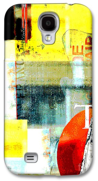 Surtex Licensing Galaxy S4 Cases - Urban Abstract in Red and Yellow Galaxy S4 Case by Anahi DeCanio