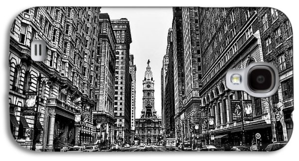 Phillies Galaxy S4 Cases - Urban Canyon - Philadelphia City Hall Galaxy S4 Case by Bill Cannon