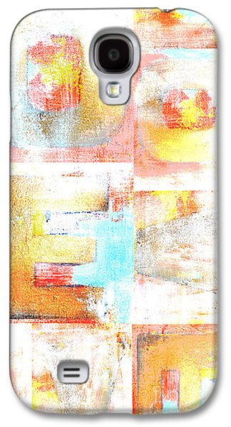 Shower Digital Galaxy S4 Cases - Urban Love Typography Collage in Orange Coral and Blue Galaxy S4 Case by Anahi DeCanio - ArtyZen Studios