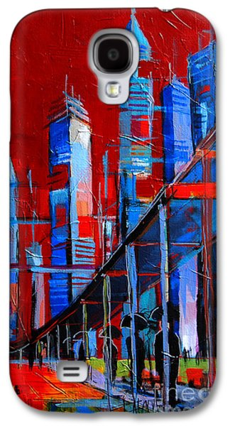 Urban Vision - City Of The Future Galaxy S4 Case by Mona Edulesco
