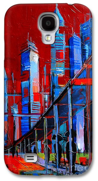 Abstracted Galaxy S4 Cases - URBAN VISION - city of the future Galaxy S4 Case by Mona Edulesco