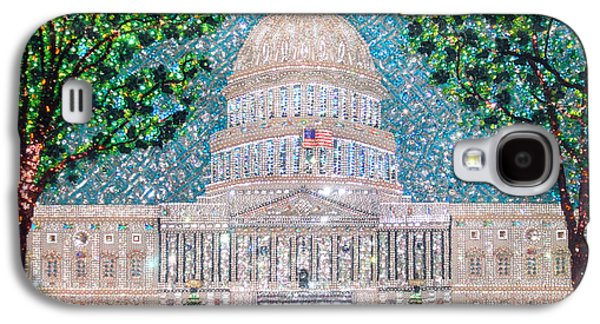 Beadwork Jewelry Galaxy S4 Cases - US Capital Building unique extra-large beadwork art  Galaxy S4 Case by Sofia Metal Queen