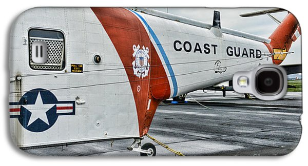 Helicopter Photographs Galaxy S4 Cases - US Coast Guard Helicopter Galaxy S4 Case by Paul Ward
