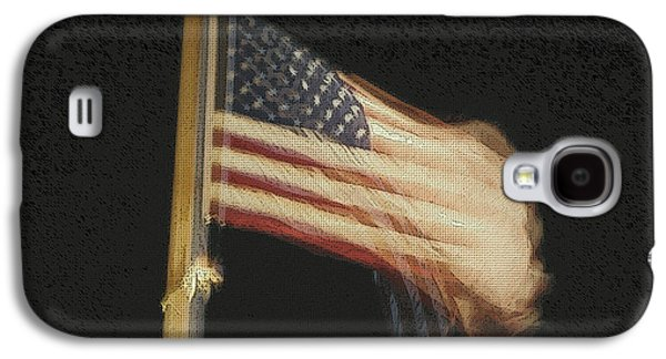 Copy Mixed Media Galaxy S4 Cases - US Flag Galaxy S4 Case by Celestial Images