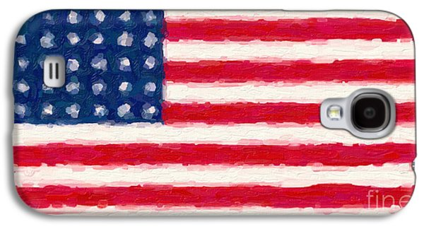 Patriotism Paintings Galaxy S4 Cases - Flag of the Brave Galaxy S4 Case by Celestial Images
