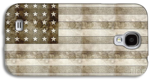 Business Drawings Galaxy S4 Cases - Us Flag Sketch Galaxy S4 Case by Celestial Images