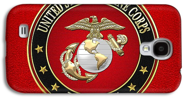 Patch Galaxy S4 Cases - U. S. Marine Corps - USMC Emblem Special Edition Galaxy S4 Case by Serge Averbukh
