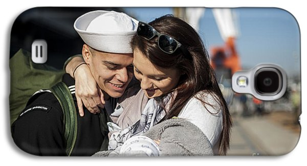 U.s. Navy Sailor Hugs His Wife Galaxy S4 Case by Stocktrek Images