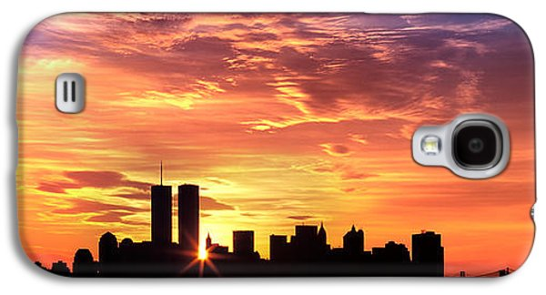 Business Galaxy S4 Cases - Us, New York City, Skyline, Sunrise Galaxy S4 Case by Panoramic Images