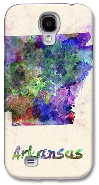 Arkansas Paintings Galaxy S4 Cases - US state in watercolor Galaxy S4 Case by Pablo Romero