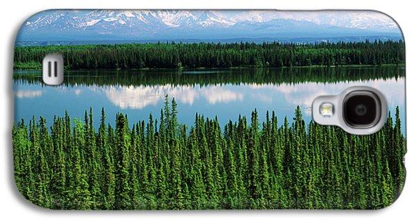 Usa, Alaska, Willow Lake And Mt Galaxy S4 Case by Adam Jones
