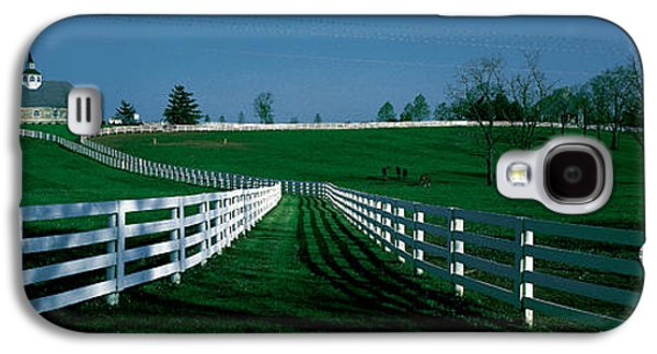 Horse Images Galaxy S4 Cases - Usa, Kentucky, Lexington, Horse Farm Galaxy S4 Case by Panoramic Images