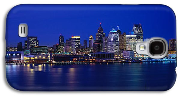 Renaissance Center Galaxy S4 Cases - Usa, Michigan, Detroit, Night Galaxy S4 Case by Panoramic Images