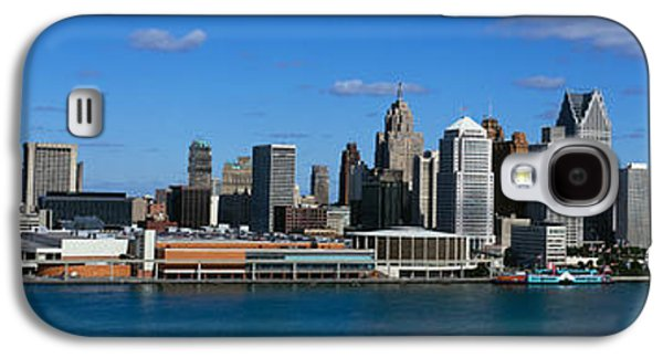 Renaissance Center Galaxy S4 Cases - Usa, Michigan, Detroit Galaxy S4 Case by Panoramic Images