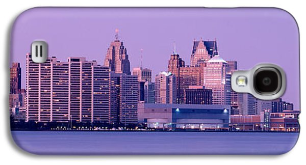 Renaissance Center Galaxy S4 Cases - Usa, Michigan, Detroit, Twilight Galaxy S4 Case by Panoramic Images