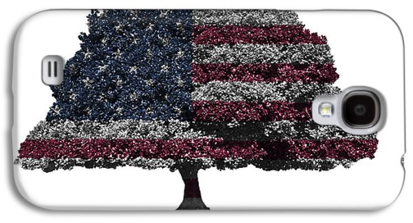 Republican Mixed Media Galaxy S4 Cases - USA national flag on isolated tree Galaxy S4 Case by Image World