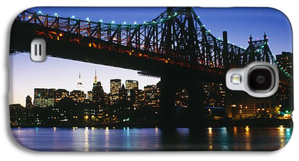 Connect Photographs Galaxy S4 Cases - Usa, New York City, 59th Street Bridge Galaxy S4 Case by Panoramic Images