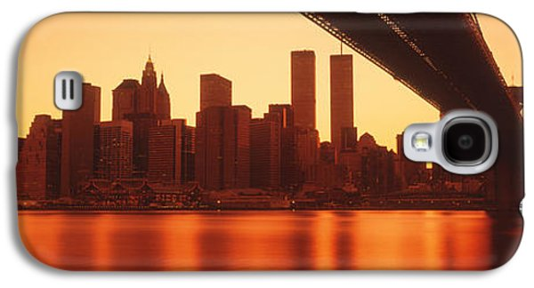 Twin Towers Nyc Galaxy S4 Cases - Usa, New York, East River And Brooklyn Galaxy S4 Case by Panoramic Images