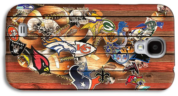 Usa Nfl Map Collage 10 Galaxy S4 Case by Bekim Art