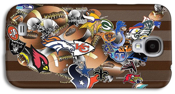 Usa Nfl Map Collage 2 Galaxy S4 Case by Bekim Art