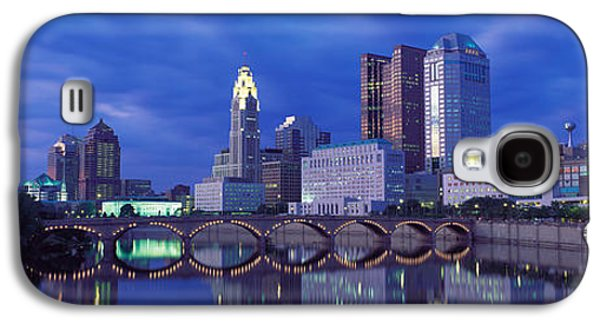 Business Galaxy S4 Cases - Usa, Ohio, Columbus, Scioto River Galaxy S4 Case by Panoramic Images
