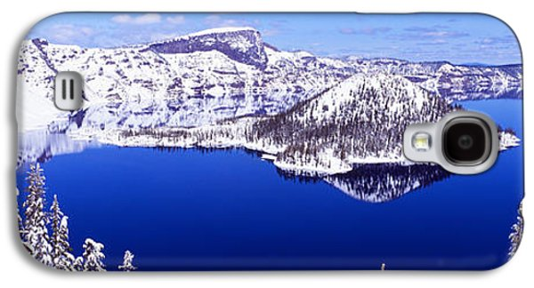 Snow-covered Landscape Galaxy S4 Cases - Usa, Oregon, Crater Lake National Park Galaxy S4 Case by Panoramic Images