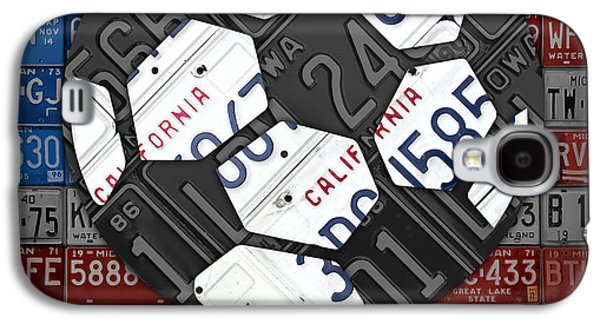 Usa Mixed Media Galaxy S4 Cases - USA Soccer Recycled Vintage License Plate Art Galaxy S4 Case by Design Turnpike