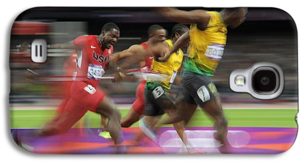 Sports Photographs Galaxy S4 Cases - Usain Bolt Winning 100m Gold, London Galaxy S4 Case by Ria Novosti