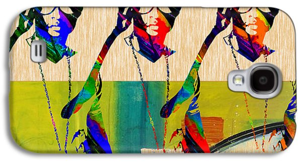 Voice Galaxy S4 Cases - Usher Art Galaxy S4 Case by Marvin Blaine