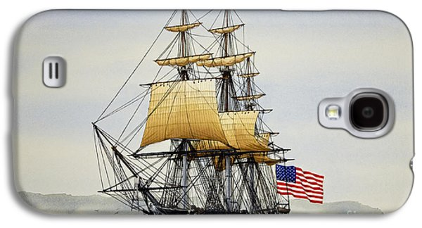 Frigates Paintings Galaxy S4 Cases - Uss Constitution Galaxy S4 Case by James Williamson