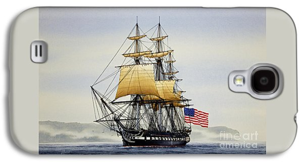 Tall Ship Galaxy S4 Cases - Uss Constitution Galaxy S4 Case by James Williamson
