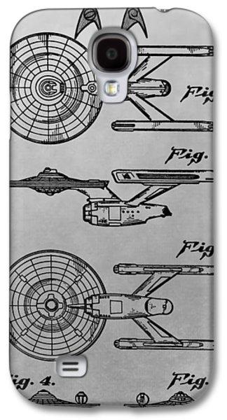 Enterprise Digital Galaxy S4 Cases - USS Enterprise Patent Illustration Galaxy S4 Case by Dan Sproul