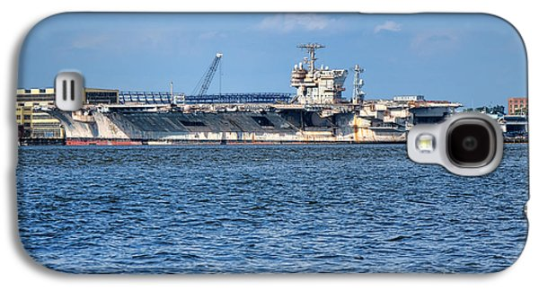 Phila Galaxy S4 Cases - USS John Kennedy Galaxy S4 Case by Olivier Le Queinec