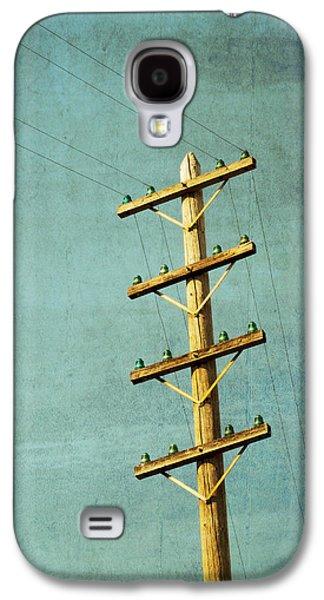 Telephone Poles Galaxy S4 Cases - Utilitarian Galaxy S4 Case by Melanie Alexandra Price
