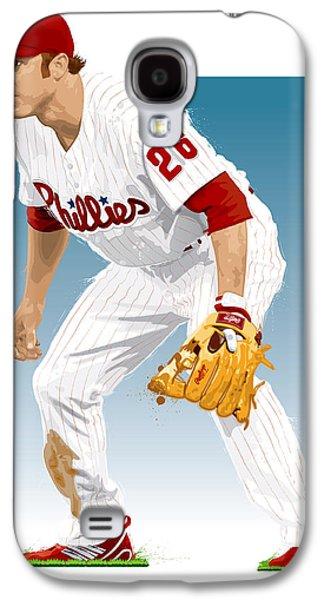 Phillies Digital Art Galaxy S4 Cases - Utley In The Ready Galaxy S4 Case by Scott Weigner