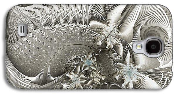 Fractal Art Galaxy S4 Cases - Utopia-Fractal Art Galaxy S4 Case by Karin Kuhlmann
