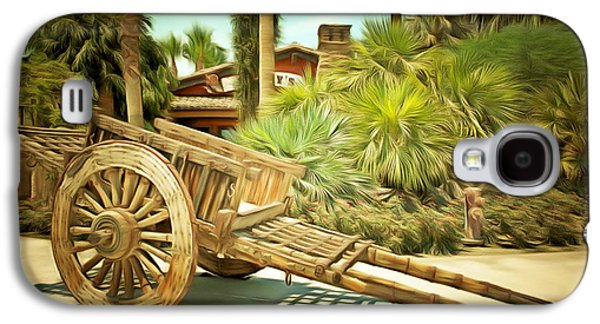 Wooden Wagons Galaxy S4 Cases - Wooden Hand Cart  Galaxy S4 Case by Barbara Snyder