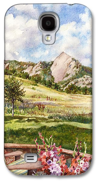 Gladiolas Paintings Galaxy S4 Cases - Vacation at Chautauqua Galaxy S4 Case by Anne Gifford