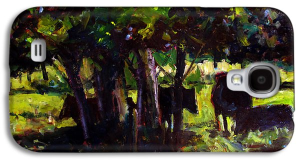 In The Shade Galaxy S4 Cases - Vaches dans le Bois Galaxy S4 Case by Charlie Spear