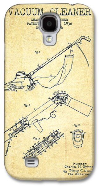 Electronic Galaxy S4 Cases - Vacuum Cleaner patent from 1936 - Vintage Galaxy S4 Case by Aged Pixel
