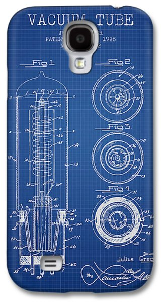 Electron Galaxy S4 Cases - Vacuum Tube Patent From 1928 - Blueprint Galaxy S4 Case by Aged Pixel