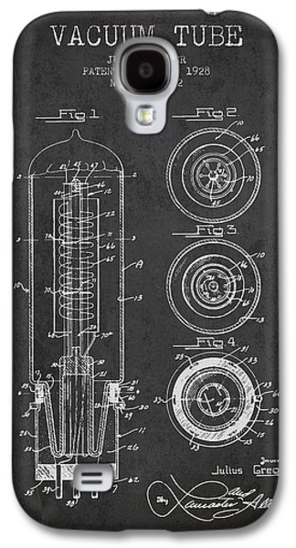 Electron Galaxy S4 Cases - Vacuum Tube Patent From 1928 - charcoal Galaxy S4 Case by Aged Pixel