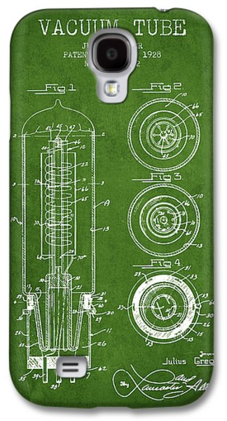 Electron Galaxy S4 Cases - Vacuum Tube Patent From 1928 - Green Galaxy S4 Case by Aged Pixel