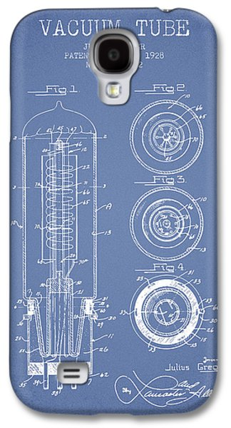 Electron Galaxy S4 Cases - Vacuum Tube Patent From 1928 - Light Blue Galaxy S4 Case by Aged Pixel