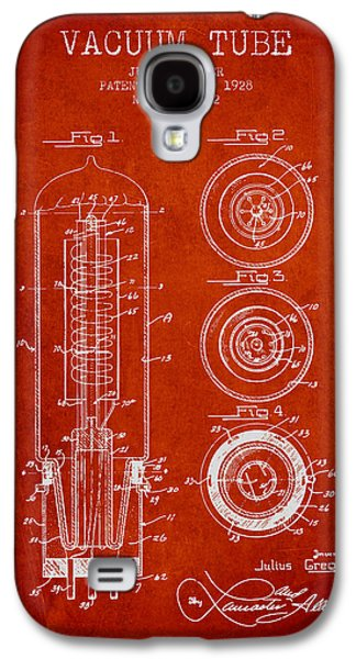 Electron Galaxy S4 Cases - Vacuum Tube Patent From 1928 - red Galaxy S4 Case by Aged Pixel