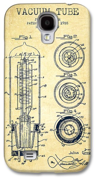 Electron Galaxy S4 Cases - Vacuum Tube Patent From 1928 - Vintage Galaxy S4 Case by Aged Pixel