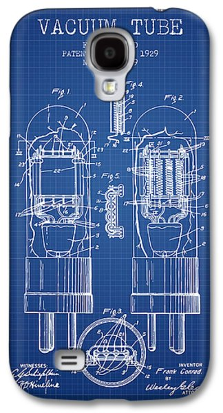 Electron Galaxy S4 Cases - Vacuum Tube Patent From 1929 - Blueprint Galaxy S4 Case by Aged Pixel