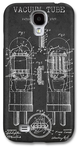 Electron Galaxy S4 Cases - Vacuum Tube Patent From 1929 - Charcoal Galaxy S4 Case by Aged Pixel