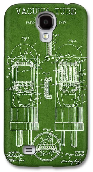 Electron Galaxy S4 Cases - Vacuum Tube Patent From 1929 - Green Galaxy S4 Case by Aged Pixel